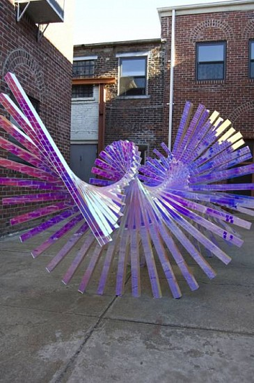 Alyson Shotz, Wavelength 2009, dichroic acrylic on aluminum