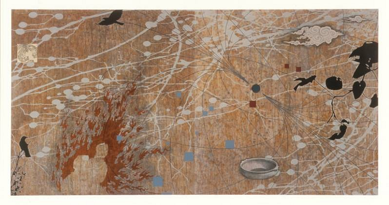 Tanja Softic, Migrant Universe: the Map of What Happened 2008, acrylic, pigment, charcoal and chalk on handmade paper mounted on board