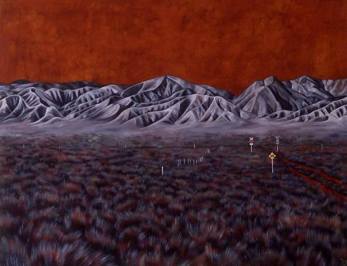 Karen Standke, Flinders Ranges Landscape 2006, oil on canvas