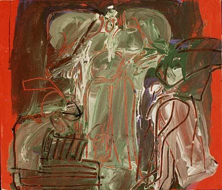 Joe Stefanelli, Siwa Dieties 1989, acrylic on canvas