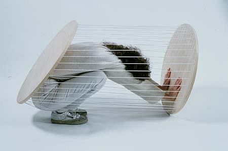 Juliane Stiegele, Appliance for Slowing Down 1999 - 2001, wood, rubber