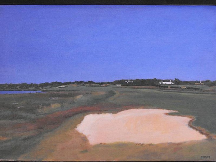 Midge Stires, Maidstone Golf Course 1995, acrylic