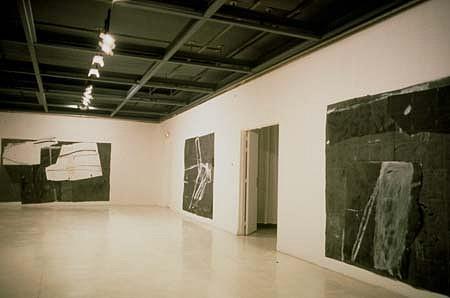 Marek Szczesny, Exhibition 1998, oil on paper