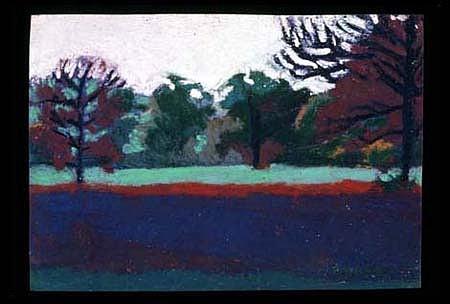 Robin Raddatz, Trees # 7 2001, oil pastel