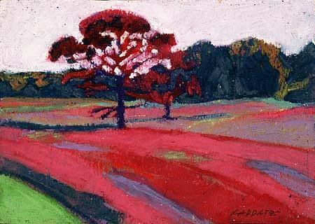 Robin Raddatz, Trees # 5 2001, oil pastel