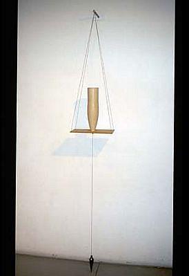Elsa Rady, Holy Swing II 2003, stainless steel, brass, corian