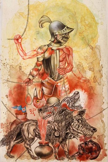 Osvaldo Ramirez Castillo, Becerillo 2008, mixed media drawing