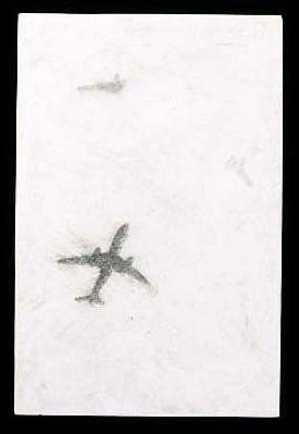 Necee Regis, Wild Blue Yonder, 11 1999, graphite on hydrocal