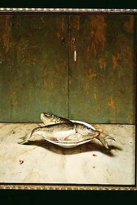 Eran Reshef, Carps 2002, oil on wood