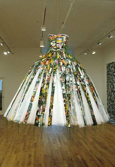 Hunter Reynolds, Patina du Prey's Memorial Dress 1992 - 1997, c-print photo weavings, fabric, nettings and dress form