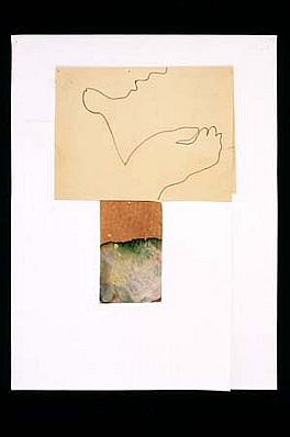 Marilyn Reynolds, In Your Hand 1997, marker, stained paper