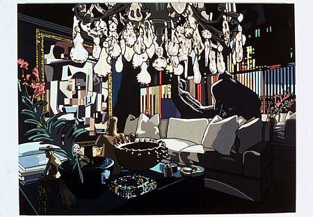 Jim Richard, Dark Decor 2002, oil on linen