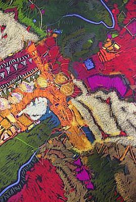 Charlotte Riley-Webb, Scattered Jewels 2004, pastel