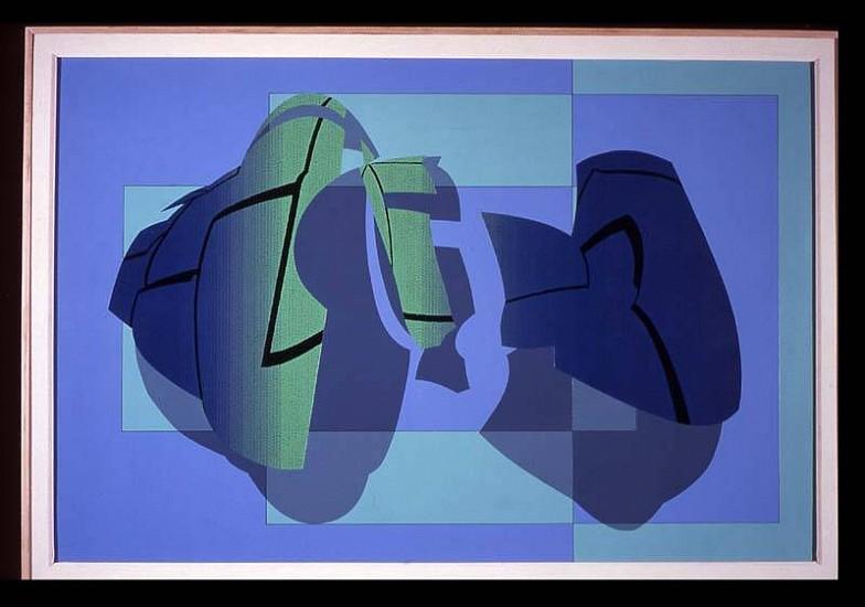 Jorge Robelo, Arquicromia No. 77 2005, acrylic on paper