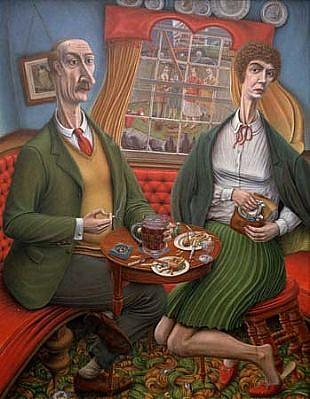 Bob Robinson, No Problem 1990, oil on canvas