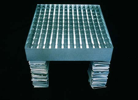 Joyce Roetter, 96' Memory Table light table, film canisters, snapshots