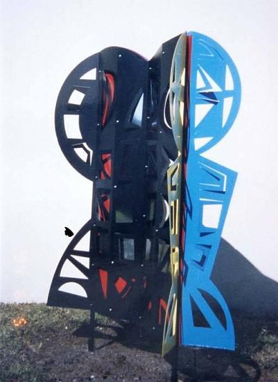 Volf Roitman, MADI Galaxy 5 2001, laser-cut metal, stainless mirror panels