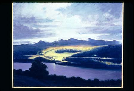 Richard Rosenblatt, Light Effects, Loch Tummel 1999, oil on canvas