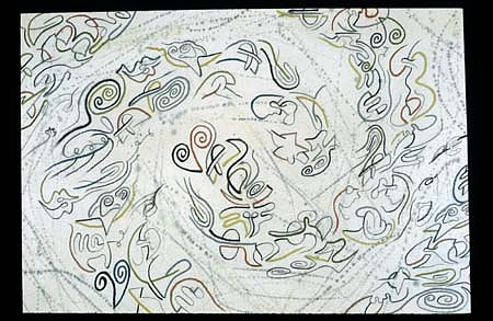 Richard Lewis Roth, Moop 232 1996, acrylic, pastel