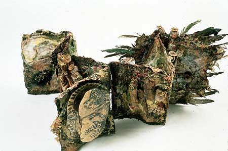Susan Rostow, Turtle Shells 1995, mixed print media, materials