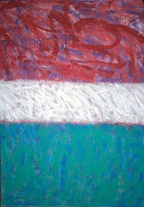 Hedy O'Beil, Red Sky 2007, acrylic