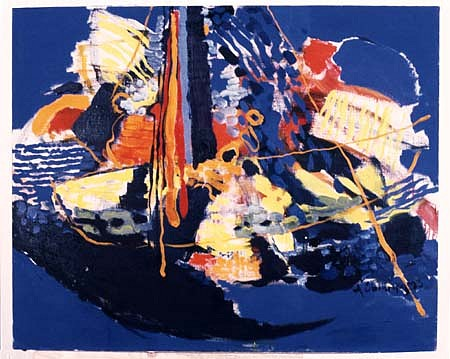 Antanas Obcarskas, Ship 1993, oil on canvas