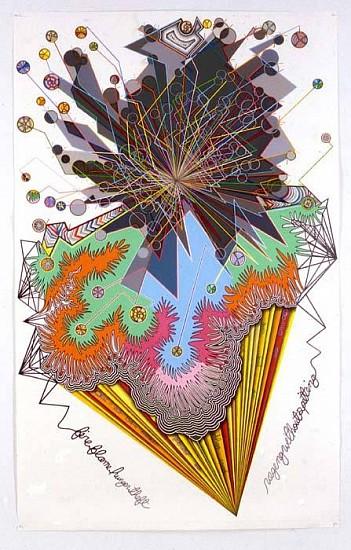 John O'Connor, Nostradamus 2005, colored pencil, graphite, and gesso on paper
