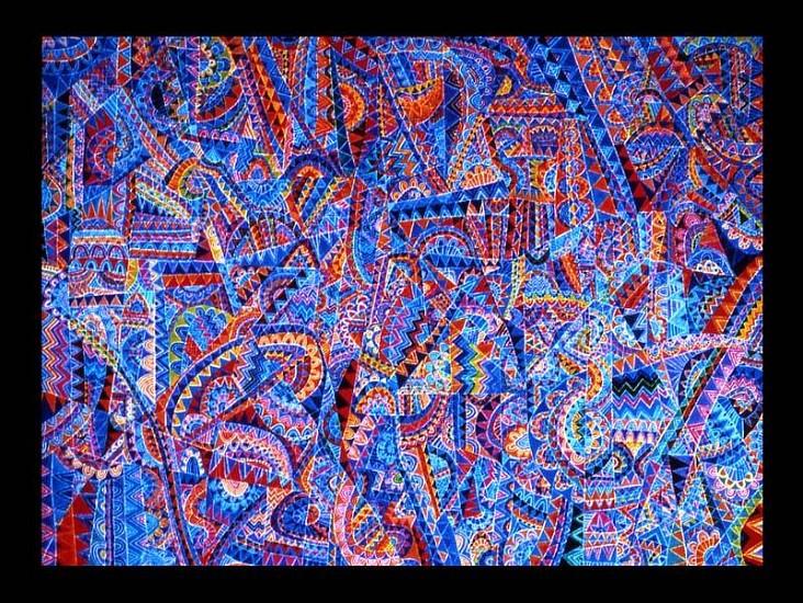 Moyo Ogundipe, Ballet of Deities 2001, oil on canvas