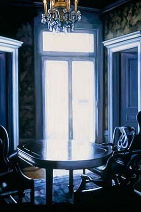 Patti Oleon, Double Dining 2003, oil on panel