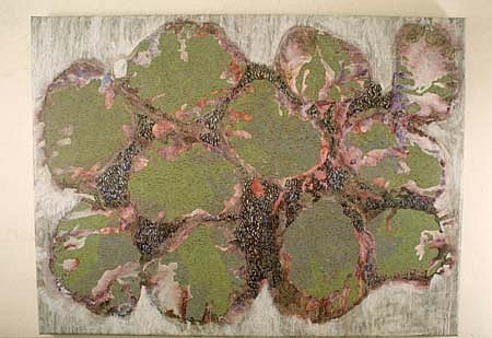 Deirdre O'Mahony, Untitled 6 1995, acrylic, pigments, stone dust on canvas