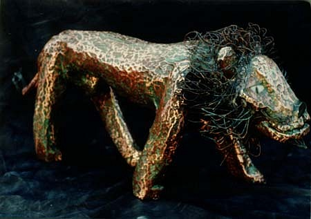 Peter Otfinoski, Lion copper, stone, wood