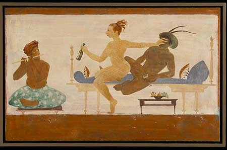 Phyllis Palmer, Flute Sonata 2002, fresco and secco on plaster