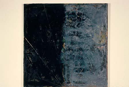 Gary Passanise, Untitled 1988, oil, sand, enamel