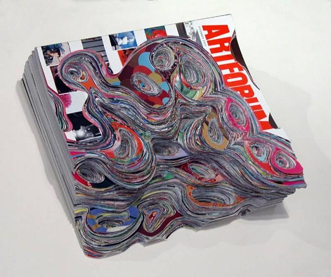 Francesca Pastine, EROSION 2009, cut 10 ArtForum magazines