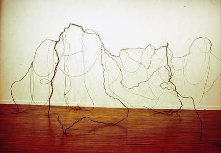 Junia Penna, Untitled 1997, iron, steel cable, metal wire