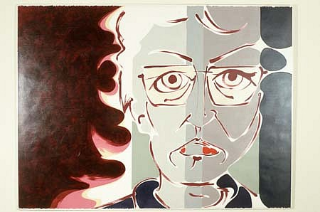 Jean Wall Penland, Self Portrait 1988, acrylic on paper