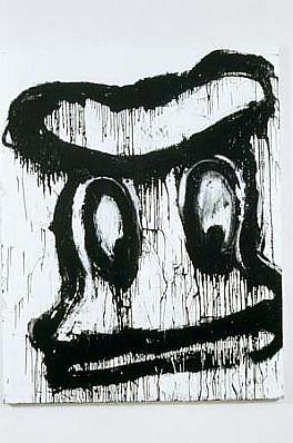 Joyce Pensato, Untitled Donald 1995, enamel on linen