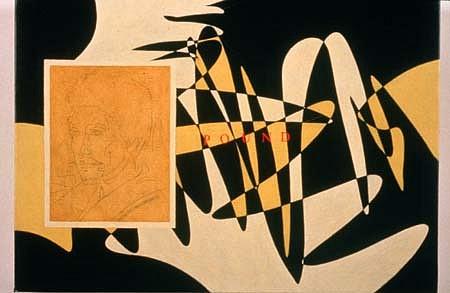Richard Pettibone, Pound 1991, alkyd, oil on canvas