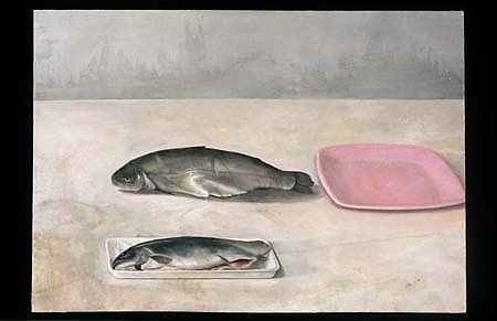 James Phalen, Pink Plate 1997, oil on canvas