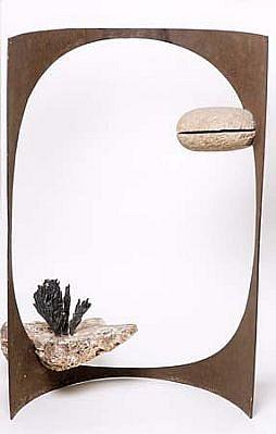 Pedro Pinkalsky, Paisagem (Landscape) 2001, stone, cast iron