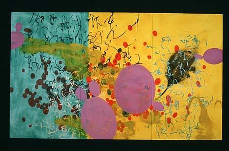 Heidi Pollard, Black Tulip on Parade 2000, oil, alkyd on canvas