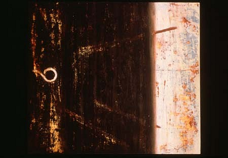 Bruce Pollock, Hitch 1989, acrylic on canvas