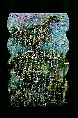 Heidi Pollard, Poem for Passing Through 1999, oil, alkyd on panel