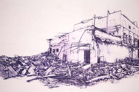 Benjamin Polsky, Ink Plant 2000, mixed media on rag paper