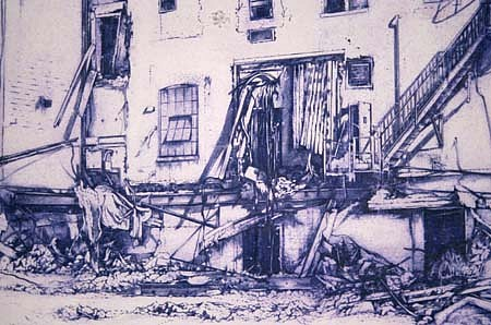 Benjamin Polsky, Ink Plant Complex 2000, mixed media on rag paper