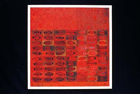 Pradeep Sukumaran, Unexcavated Red Pond 2002, oil on canvas