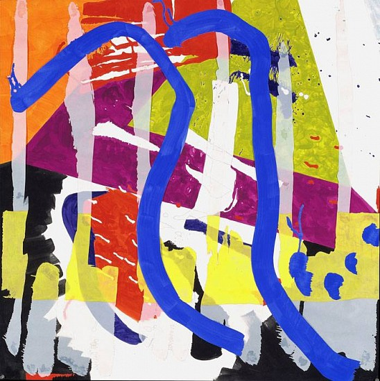 Ellen Priest, Jazz: Brubeck's Take 5, No. 2 2001, flashe and oil pastel on collaged paper