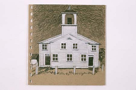 Yvonne Puffer, The Inhabitants No. 5 2001, pencil, acrylic on paper