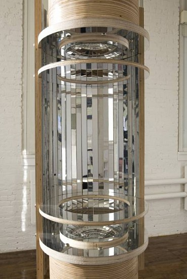 Diana Puntar, Less Than Day, Or Night 2007, plywood, aluminum laminate, mirror