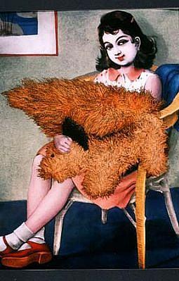 Joyce Neimanas, Girl with Squirrel 1999, ink jet print